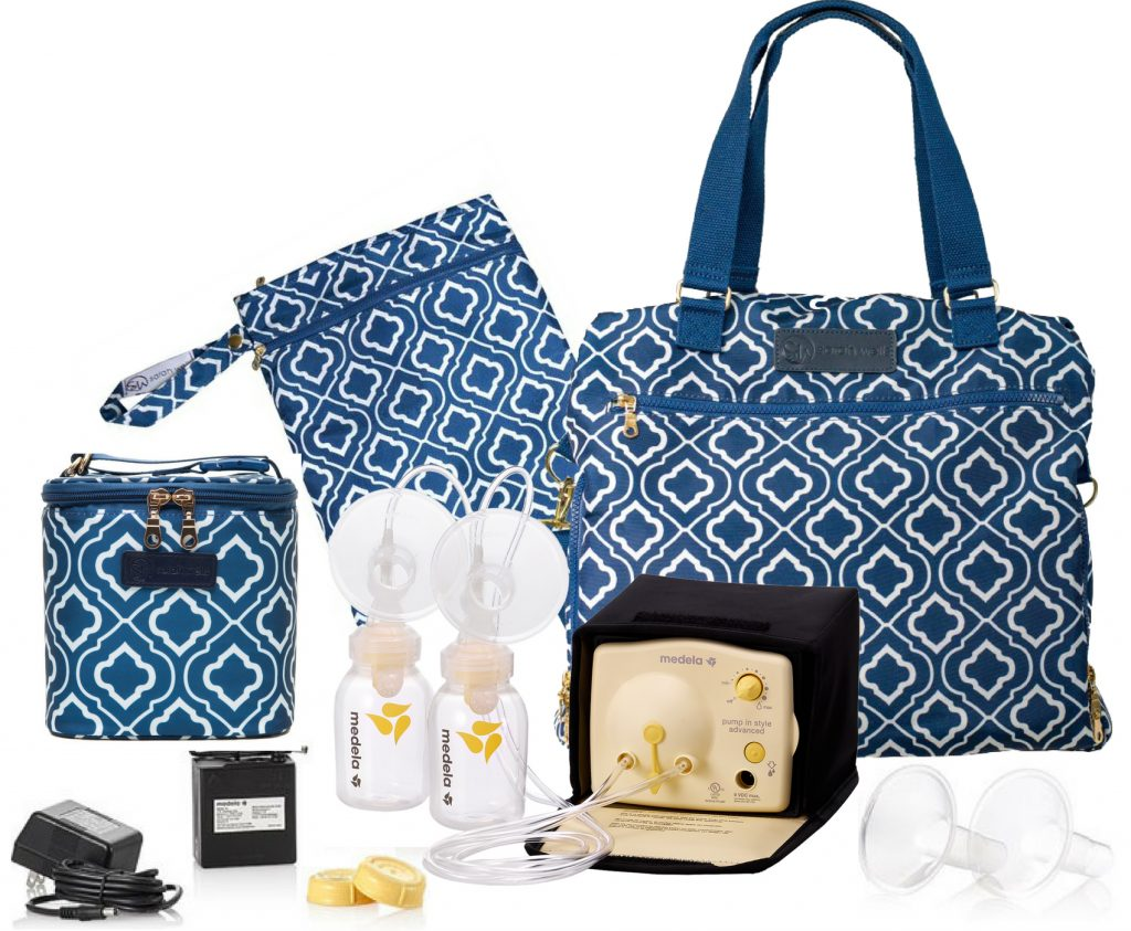 Medela Pump In Style Advanced with Sarah Wells Lizzy Bag All-In Bundle