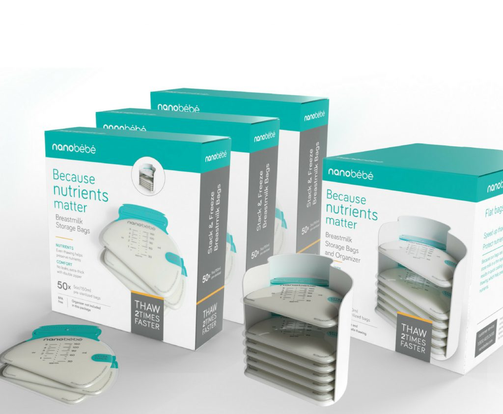 Nanobebe Breastmilk Storage Bag Package